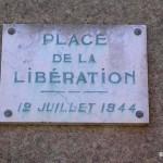 Graignes, plaque de la Libération