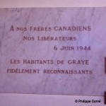 Graye-sur-Mer, plaque soldats canadiens