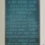 Hermanville-sur-Mer, monument Gooseberry Sword Beach