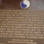 Isigny-sur-Mer, plaque 29th US Infantry Division