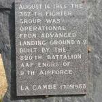 La Cambe, stèle aérodrome A2