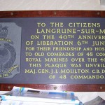 Langrune-sur-Mer, plaque 48th Royal Marines Commando