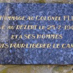 Le Dézert, plaque Colonel Flint