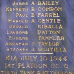 Le Plessis-Lastelle, monument 712nd Tank Battalion