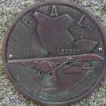 Lessay, plaque Charles Lindbergh