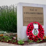 Lion-sur-Mer, plaque 41st Royal Marines Commando