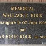 Marchésieux, monument Wallace Rock
