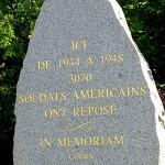 Marigny, stèle cimetière américain
