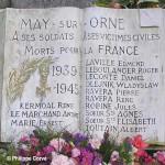 May-sur-Orne, plaque victimes civiles et militaires