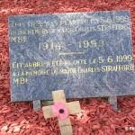 Merville-Franceville, arbres du souvenir Major Strafford