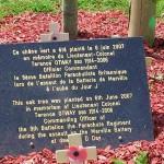 Merville-Franceville, arbres du souvenir Lieutenant-Colonel Otway