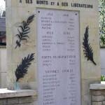 Merville-Franceville, monument déportés et victimes civiles