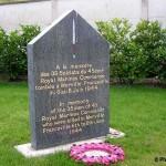 Merville-Franceville, monument 45th Royal Marines Commando