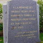 Merville-Franceville, stèle soldats alliés et victimes civiles