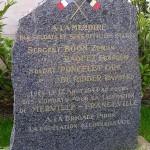 Merville-Franceville, stèle Brigade Piron