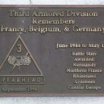 Mortain, plaque 3rd Armored Division