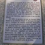 Mortain, plaque Bataille août 1944