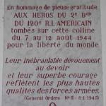 Mortain, plaque 120th Infantry Regiment
