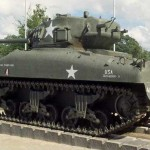 Néhou, camp Patton tank Sherman
