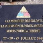 Notre-Dame-de-Cenilly, plaque 2nd Armored Division
