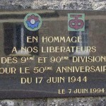 Orglandes, plaque 9th & 90th Infantry Divisions