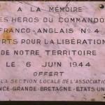 Ouistreham, plaque Commando N°4