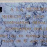 Ouistreham, plaque commandos français