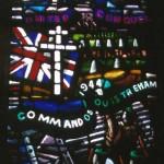 Ouistreham, vitrail 1st Commando Brigade