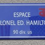 Périers, plaque Edward Hamilton