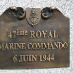 Port-en-Bessin, stèle 47th Royal Marine Commando