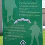 Quinéville, panneau Commandos français