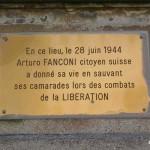 Quinéville, plaque Arturo Fanconi