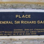 Ranville, plaque General Richard Gale