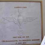 Ranville, plaque Lieutenant-Colonel Luard