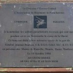 Ranville, plaque Scottish Airborne Soldiers