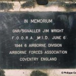 Ranville, plaque Jim Wright