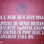Robehomme, plaque 3rd Parachute squadron RE & 1st Canadian Parachute Battalion