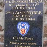 Saint-André-de-Briouze, plaque aviateurs américains