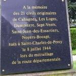 Saint-Charles-de-Percy, plaque victimes civiles