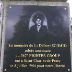 Saint-Charles-de-Percy, plaque Delbert Schmid
