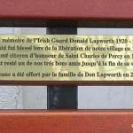 Saint-Charles-de-Percy, plaque Donald Lapworth