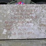 Saint-Christophe-le-Jajolet, plaque soldats 2e DB