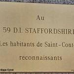 Saint-Contest, stèle 59th Infantry Division