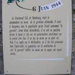 Sainte-Marie-du-Mont, panneau circuit historique