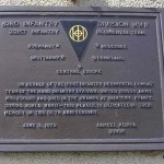 Sainteny, plaque 83rd Infantry Division
