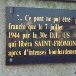 Saint-Fromond, plaque 30th Infantry Division