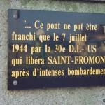Saint-Fromond, plaque 30th Infantry Division