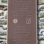 Saint-Georges-Montcocq, plaque 35th Infantry Division