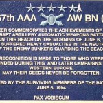 Saint-Laurent-sur-Mer, plaque 467th Anti Aircraft Artillery AW BN