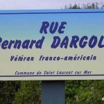Saint-Laurent-sur-Mer, plaque Bernard Dargols
